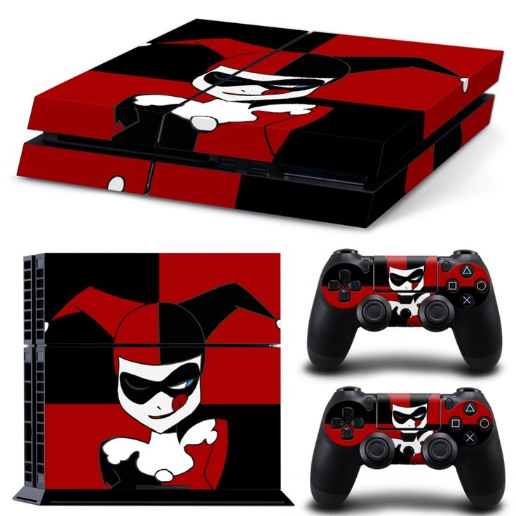 The Joker and Harley Quinn skin sticker for ps4 vinyl protective cover for ps4 console for ps4 controller skin for ps4 sticker