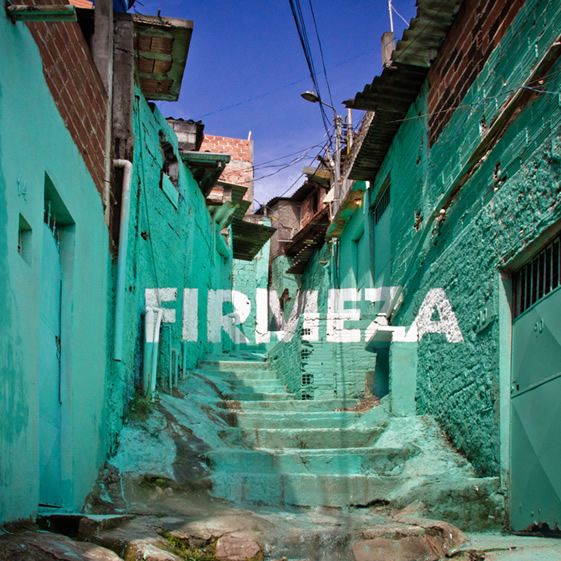 Spanish art-collective Boa Mistura flattened the winding and climbing topography of the favela with their anamorphic words of hope and love...