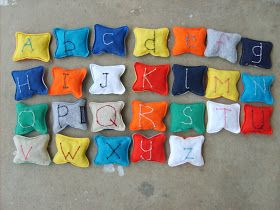 the red kitchen: Alphabet Beanbags: Finally Finished