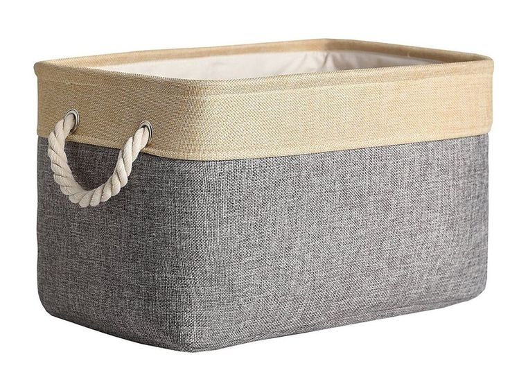 #Storage Bin #Organizer Basket Thick Fabric Collapsible Lined #Durable Easy Clean