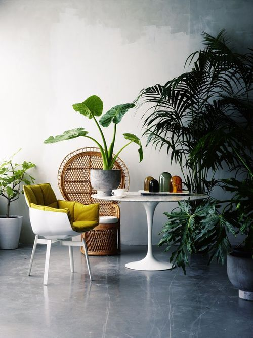 Modern boho style. YASI have a table to hire like this one.
