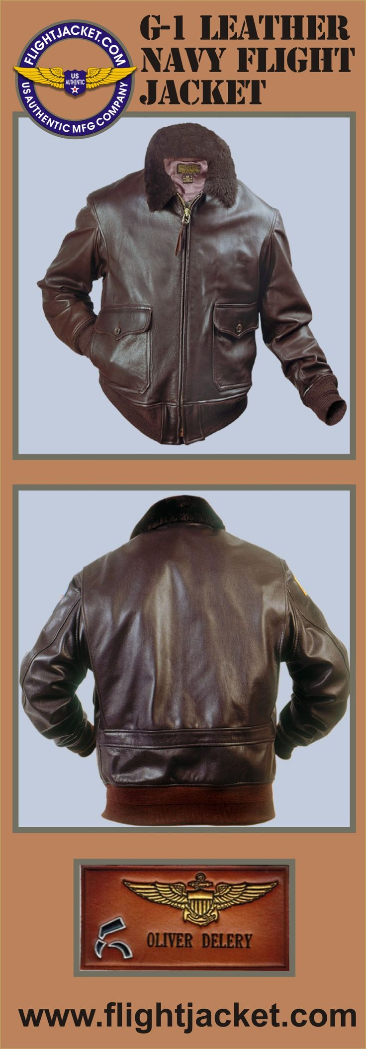 Mil Spec G 1 Navy Leather Flight Jacket Seal Brown