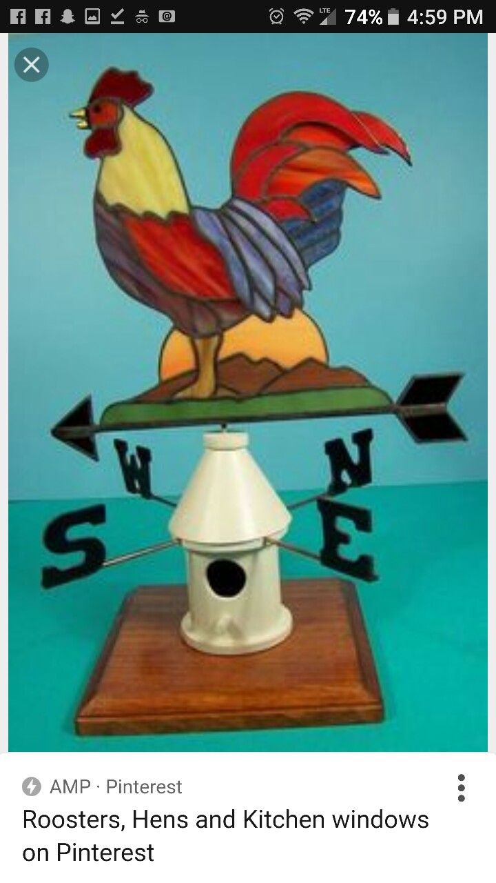 33 best stain glass chickens & roasters images on Pinterest ...