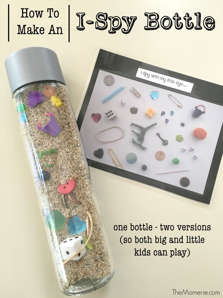 """How To Make An """"I-Spy"""" Bottle 