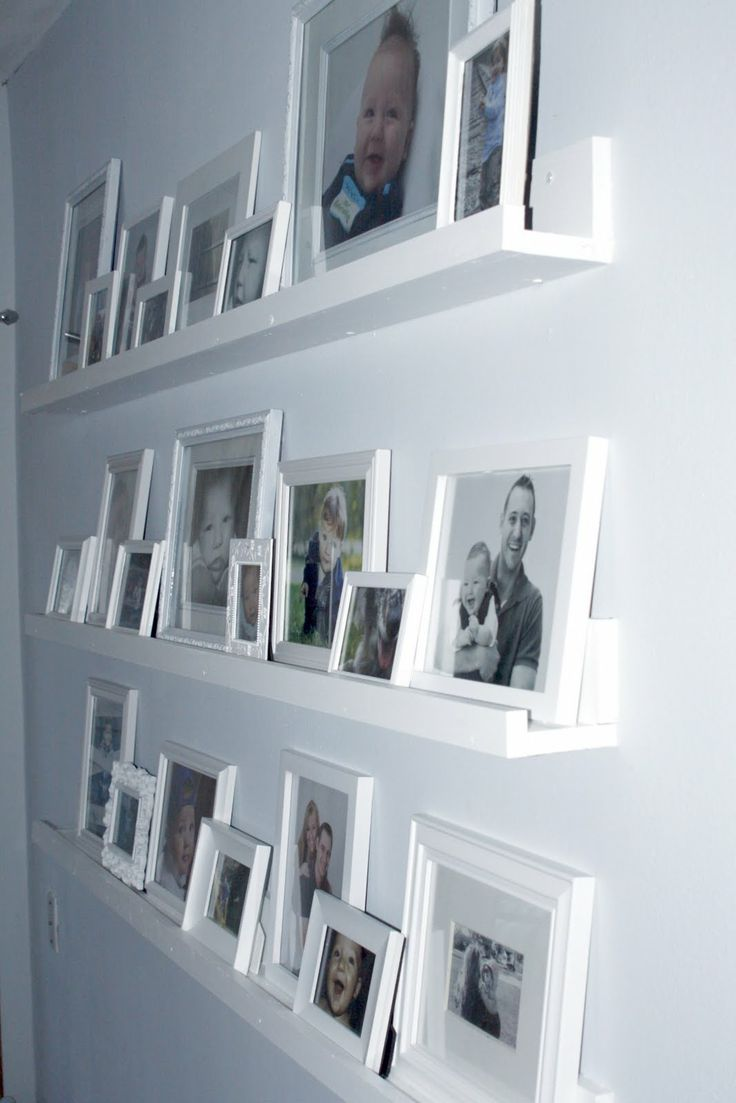 Framed Photos On Shelves Rather Than Hanging On Nails In
