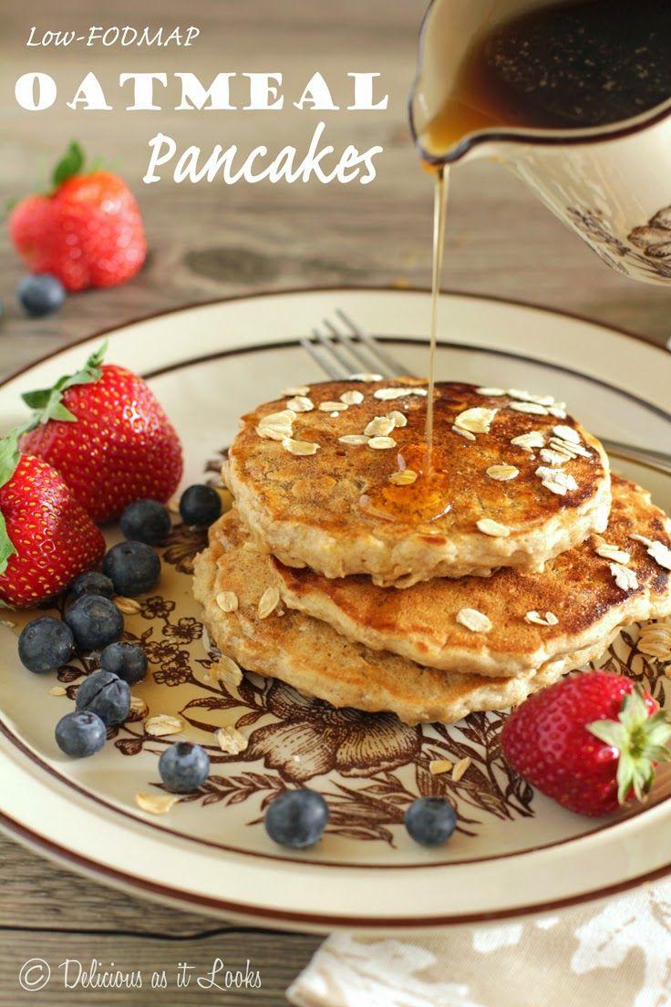 Oatmeal pancakes {Low-FODMAP, Gluten-Free, Dairy-Free}