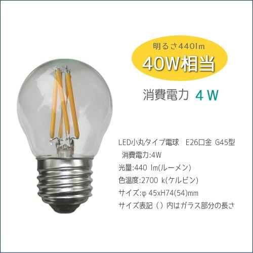 _E26 LED電球 小丸球タイプ(明るさ25W相当・40W相当) - SELFISH +NET SHOP+   おしゃれな照明・天然木の家具・かわいい雑貨   セルフィッシュ