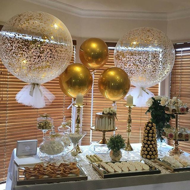 Of This Gorgeous Pic Our Signature Giant Confetti And Tassle Balloons Round Gold Orbs