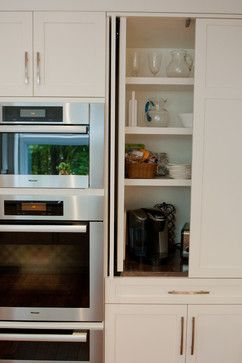 Flipper door for appliances cabinet