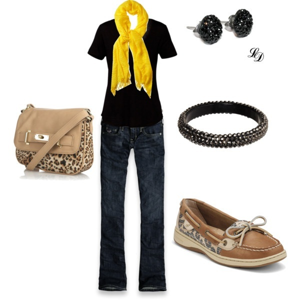 Not the shoes and purse together. But I love the black tee with the yellow