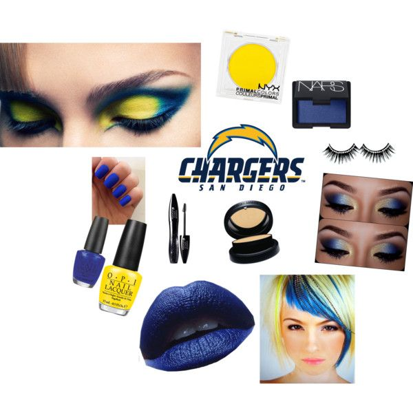 """""""San Diego Chargers Game Face"""" by arizonaladybirds on Polyvore"""