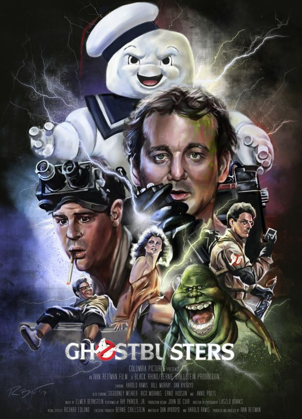 Ghostbusters Film Poster by Robert Bruno, via Behance