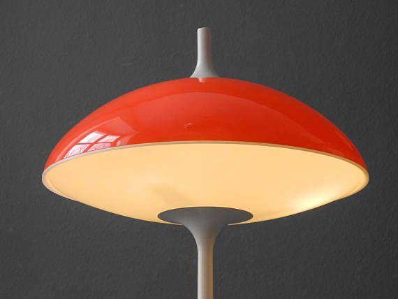 Paar Grosse 60er Pop Art Space Age Tischlampe Von Temde Made In Switzerland Glass Pendant Lamp Lamp Cool Lamps