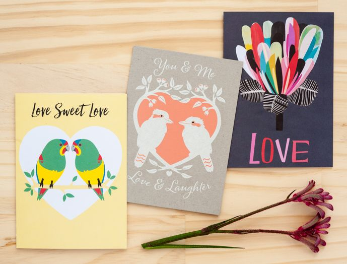 Australian made, 100% recycled Valentine's day cards by Earth Greetings