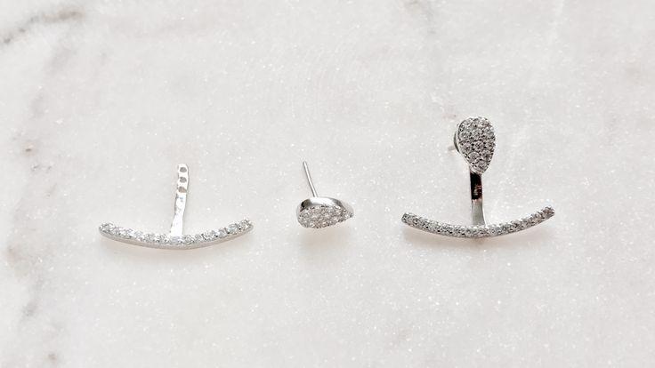 Sterling silver foxy ear jacket Earrings bohchicstore.com