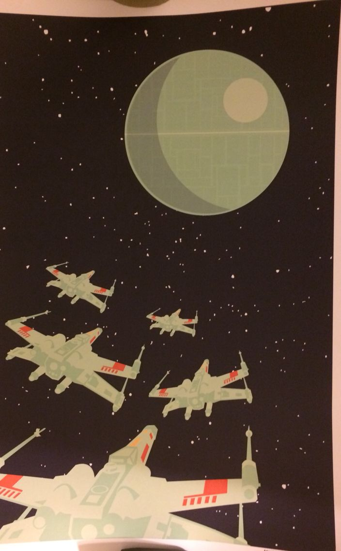 Star Wars print by Andrew Heath, signed