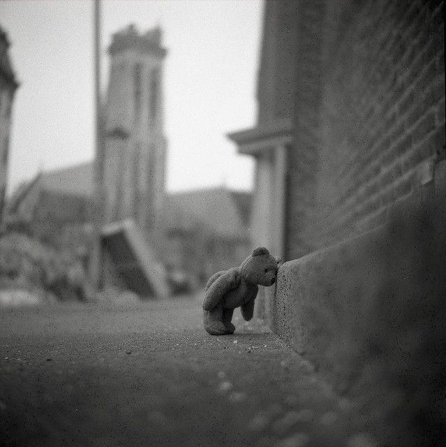 Aww...this teddy bear kills me! So stinkin cute!! Teddy bear with depression...I know how you feel bud!