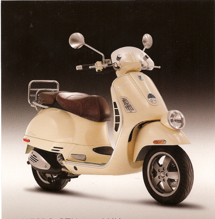 My Uncle Tommy's looks like this Vespa GTV 250