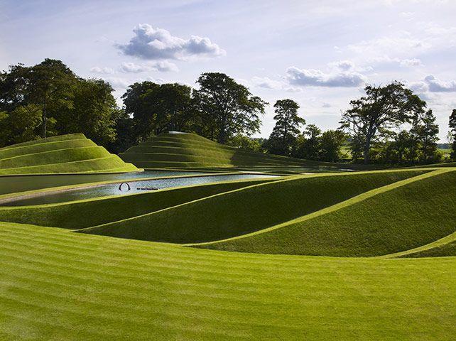Charles Jencks: Life MoundsPostmodern Landscapes, Charles Jencks, Jupiter Artland,  Labyrinths, Gardens Art, Geometric Shape, Landscapes Design, Landart, Land Art