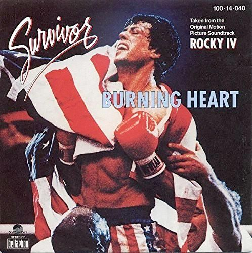 """Survivor """"Burning Heart"""" single (1986)"""