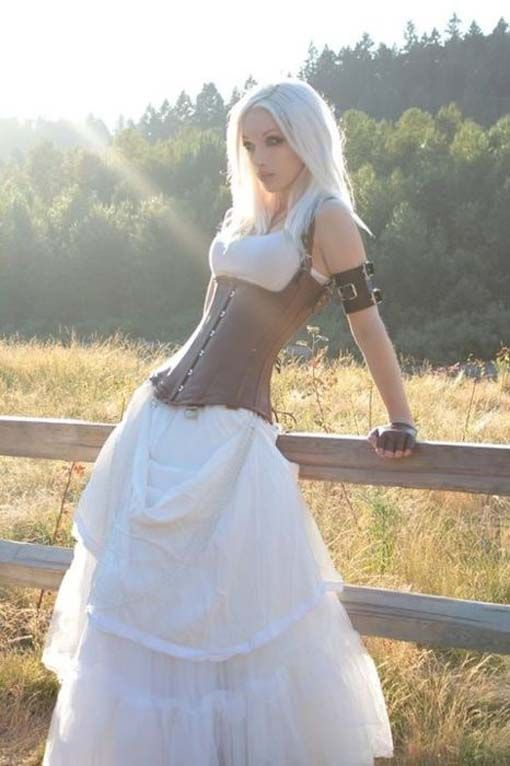 Wedding Dress, Steam Punk Wedding Dress. Simple And Elegant. Wardrobe. http://www.mybigdaycompany.com/you-party-animal-you.html