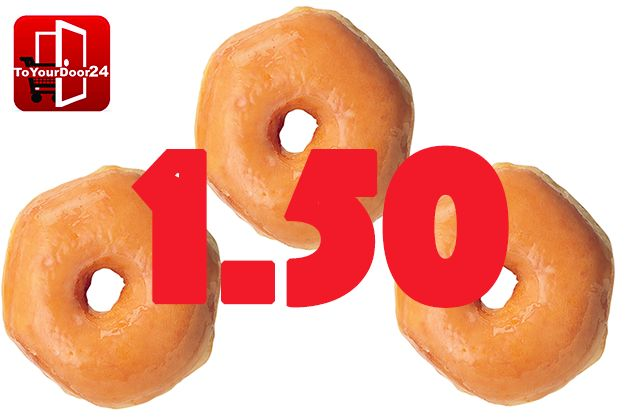 3 donuts for 1.50€! To Your Door 24 Discounts & Special Offers