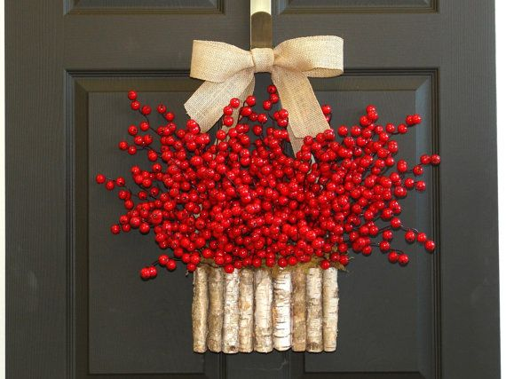 Christmas wreaths Holiday red berry wreaths Seasons by aniamelisa $69.00+ USD - Etsy