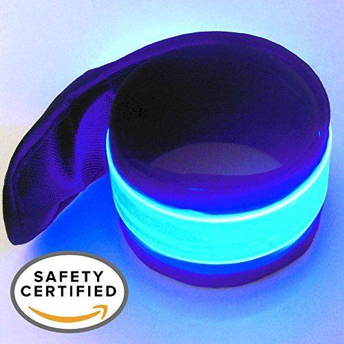 LED Safety Slap Band Armband for Cycling, Running, Jogging, and Walking - Best Reflective Flip Belt for High Visibility - Best Safety Gear for Women, Men & Kids - Safer Than a Reflective Vest - Blue - http://fitness-super-market.com/?product=led-safety-slap-band-armband-for-cycling-running-jogging-and-walking-best-reflective-flip-belt-for-high-visibility-best-safety-gear-for-women-men-kids-safer-than-a-reflective-vest-blue