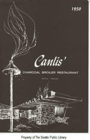 The price for filet mignon at Canlis in 1950? $4.25. Via The Seattle Public Library (Seattle Room Menu Collection).