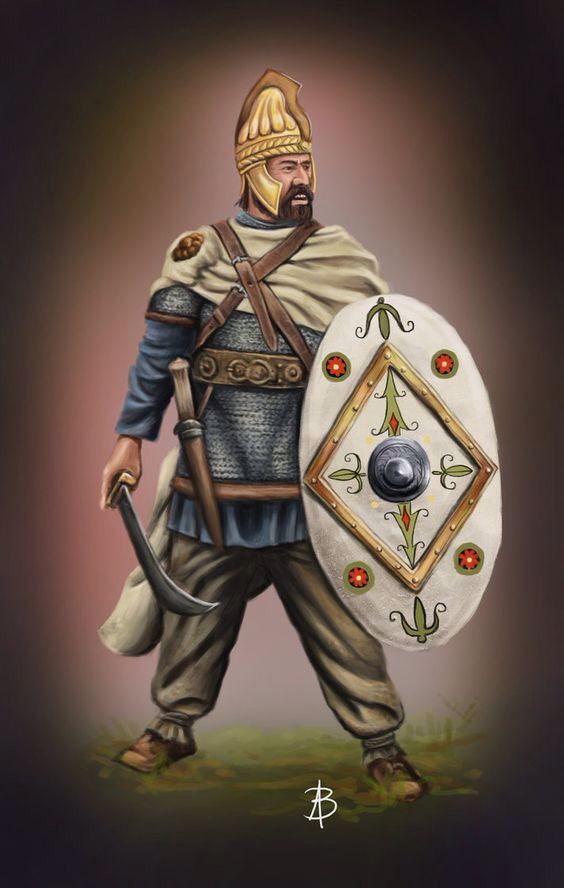 Dacian warrior leader