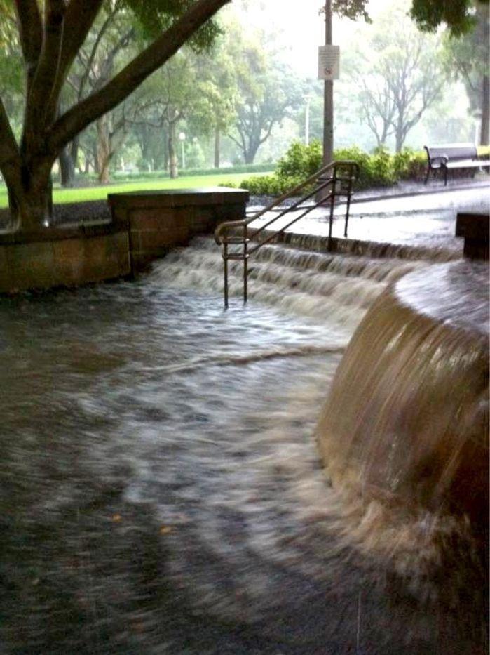 Water slide in Hyde Park
