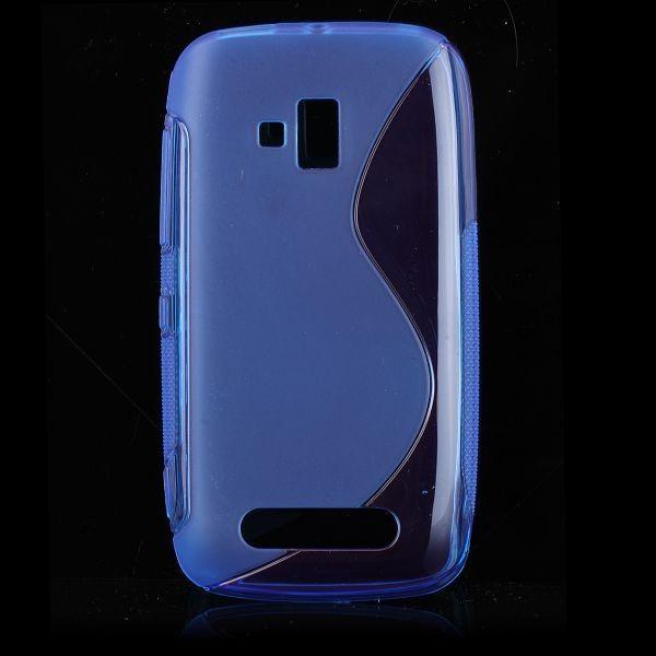S-Line Transparent (Blå) Nokia Lumia 610 Deksel
