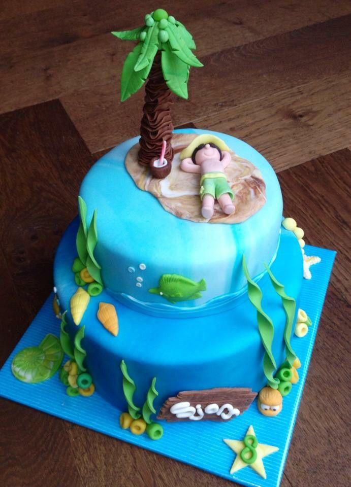 Onbewoond eiland taart door Sylvie Vencken
