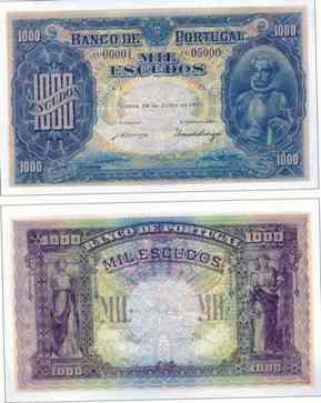 1.000 escudos I , 1921