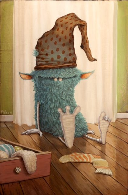 Sock Monster by Mateo Dineen    ***I KNEW a Sock Monster existed!!