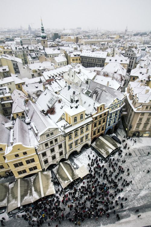 Czech the Count! — Snowy Roofs of Old Town.. by czechthecount:...