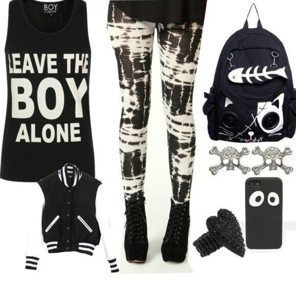Punk rock style boy