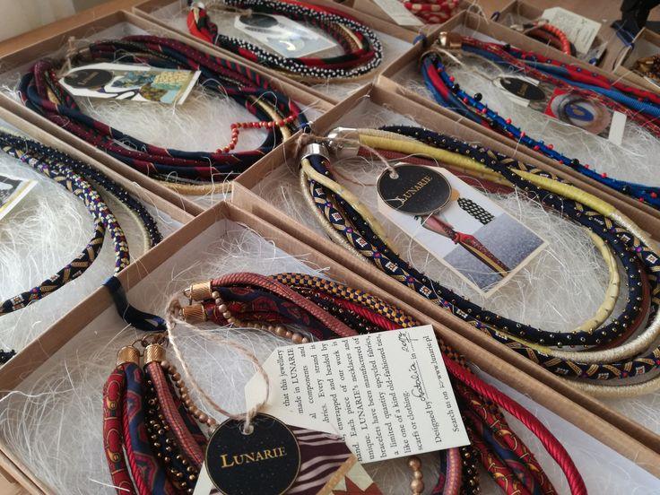 Lunarie * Handmade jewellery from recycled fabric & floss & beads We are passionate about giving old materials new life. Every piece of our work has its own short story; sometimes textile designs of reused materials bring to mind green orangery, vintage poster or colorful Maroccan market.That is why we have named each one of our pieces, to express its unique character or background story. #upcycledjewelery #etno #boho #unique #jewellery