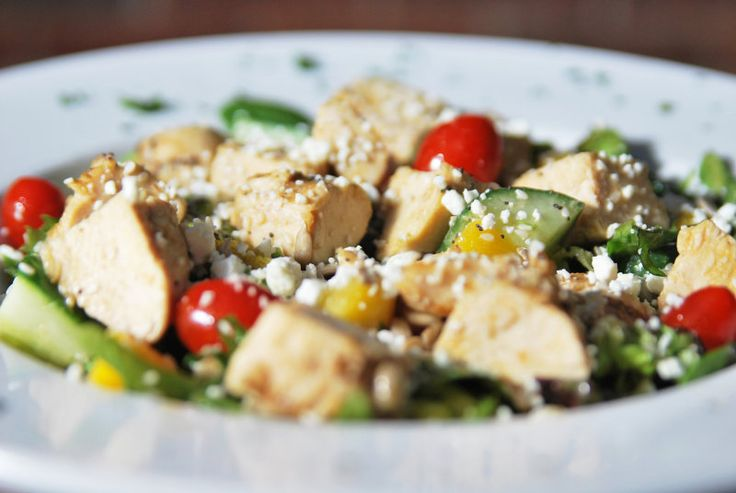 Check out the fresh, crisp ingredients in our Sunshine Salad