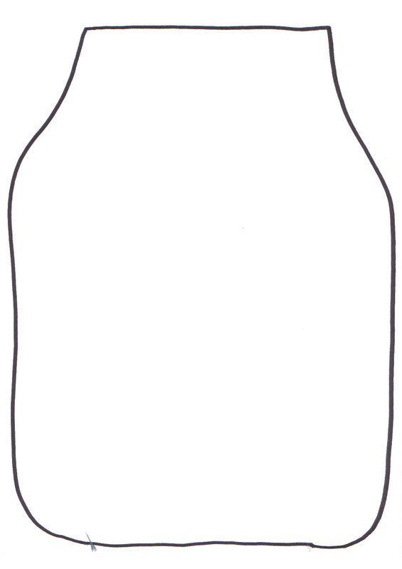 šablona sklenice