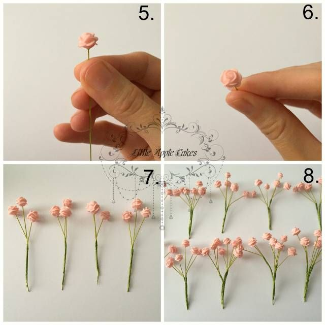Mini Roses Tutorial ~ Insipred by Baby's Breath flowers - CakesDecor