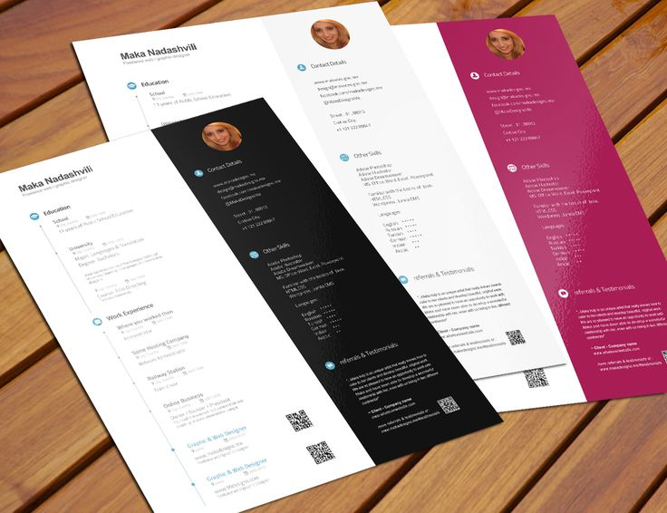 free creative resume templates psd visual word graphic design template download