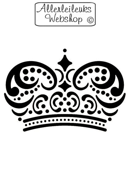 Kunststof sjabloon kroon 15 x 10cm