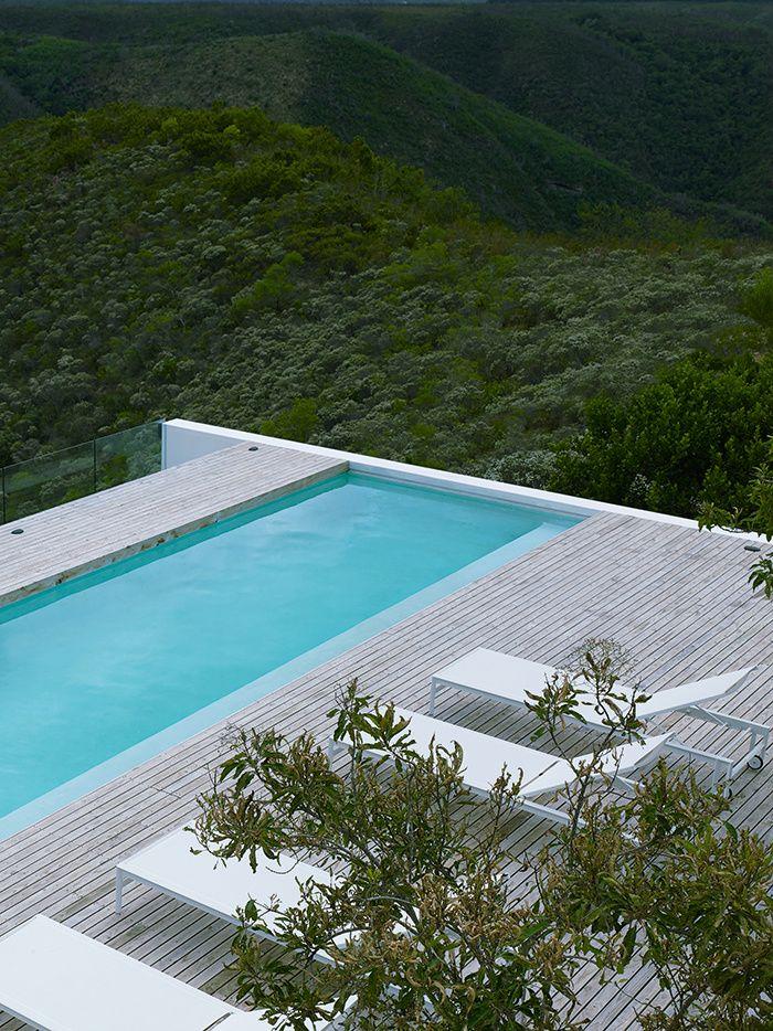 Un cottage moderniste en Afrique du Sud : la piscine © Patrick Messina