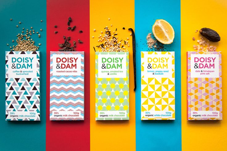 Shut Up Studio were asked to work with Doisy & Dam on their recently launched light range of Organic Chocolate packaging. They sent over piles of visual research they'd been thinking about with lots of bold, abstract and geometric paintings which formed a…