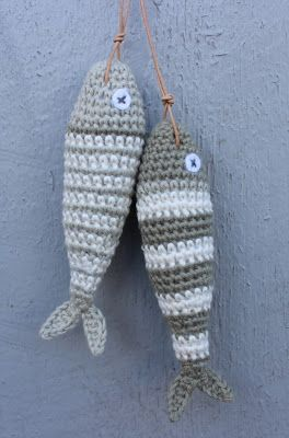Crochet fish /DIY free pattern in danish