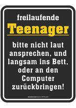 Schild: Freilaufende Teenager Schwarz Gelb Weiss · Gute SprücheGeschenke  ShopLustigesSprüche ...