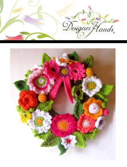 Crochet wreath  A, isn't this so cute!
