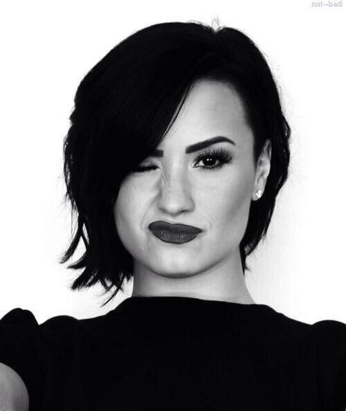Demi lovato black and white
