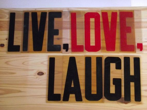 large sign letters vintage 80s outdoor plastic letters live love laugh